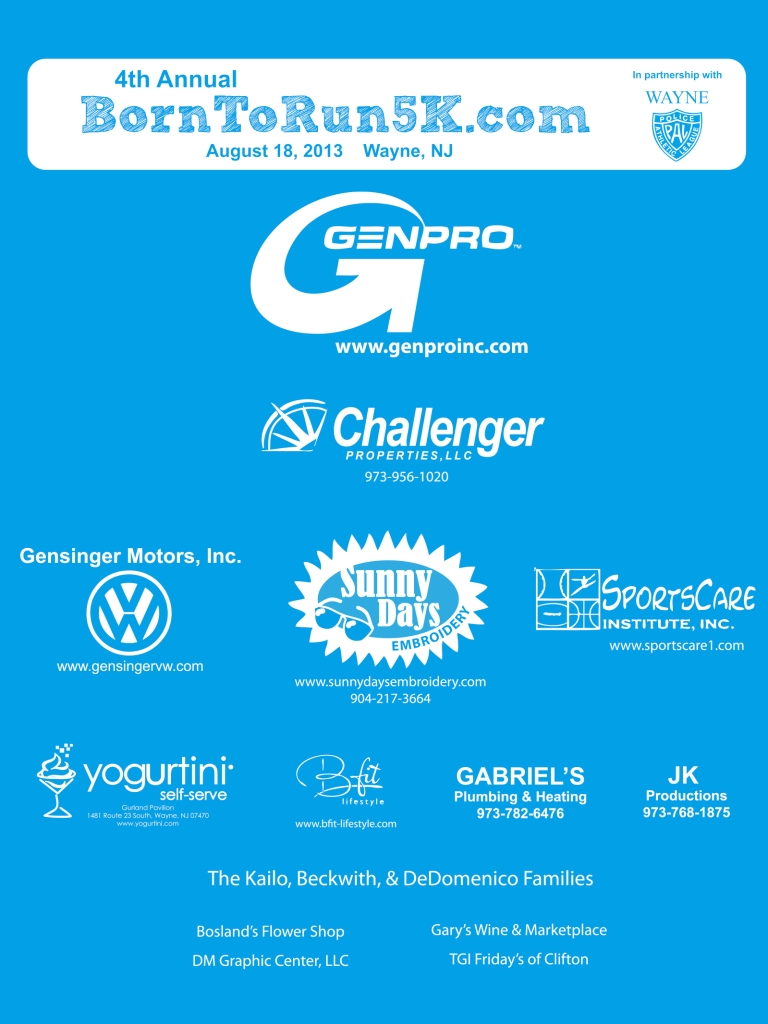 2013 5K Sponsors